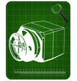 3d model of the safe on a green vector image vector image