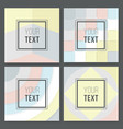 a set of abstract geometric designs in gray cream vector image