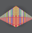 abstract building flat icon logo background vector image vector image