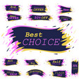 advertising stickers with spray paint effect vector image vector image
