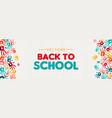 back to school banner diverse kid hand prints vector image vector image