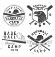 baseball club badge concept vector image vector image