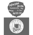 Beer Festival Two-color Flayer vector image