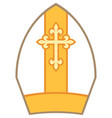 bishop mitre or miter vector image