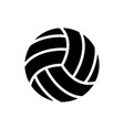 Black volleyball balls icon game equipment
