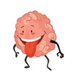 brain character emotion brain character stands vector image