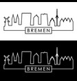 bremen skyline linear style editable file vector image vector image