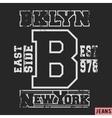 Brooklyn vintage stamp vector image vector image