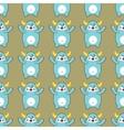 Cartoon yeti seamless pattern vector image vector image
