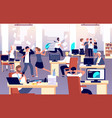 chaos in workplace sleepy lazy unorganized vector image vector image