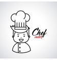 chef isolated design vector image vector image