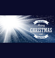 christmas blue background merry christmas happy vector image vector image