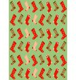 Christmas stockings wallpaper vector image vector image
