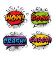 comic pop art speech bubble vector image vector image
