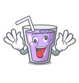 crazy berry smoothie mascot cartoon vector image vector image