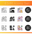 delivering food to customer icons set vector image vector image