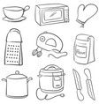 doodle of equipment kitchen object vector image vector image