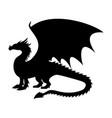 dragon fantastic silhouette symbol mythology vector image