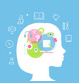 education learning styles memory multiple vector image vector image