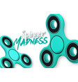 fidget spinner gadget icon realistic spinning toy vector image vector image