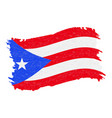 flag of puerto rico grunge abstract brush stroke vector image vector image