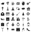 gift icons set simple style vector image
