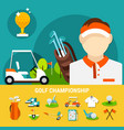 golf championship concept vector image vector image