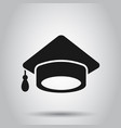 graduation cap icon in transparent style vector image vector image