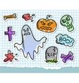 halloween symbols set vector image