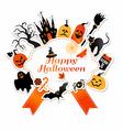 Halloween with celebration symbols vector image