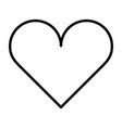 heart thin line icon pictogram vector image vector image