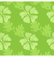 hibiscus pattern lime vector image vector image