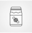 honey icon sign symbol vector image vector image