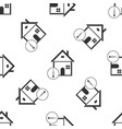 house temperature icon seamless pattern vector image vector image