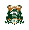 Hunting club premium member isloated sign vector image vector image