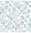 hypermarket seamless pattern with thin line icons vector image