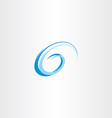 letter g swirl blue water wave vector image vector image