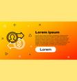 Line job promotion exchange money icon isolated on