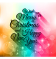 merry christmas lettering seasonal background vector image