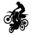Motocross Dirt Bikes Silhouette vector image vector image