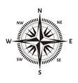 navigation compass or wind rose icon retro vector image vector image