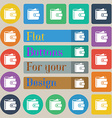 Purse icon sign Set of twenty colored flat round vector image vector image