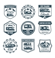 Recreational Vehicle Emblems vector image