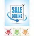 sale online arrow sign vector image vector image