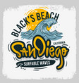 san diego california united states usa surfing vector image vector image
