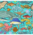 Sea and river animals pattern vector image vector image