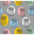 Seamless pattern with cute colorful owls vector image vector image