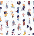seamless pattern with people walking under vector image vector image