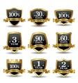 set 100 percent guarantee golden labels vector image vector image