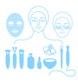 set cosmetology vector image